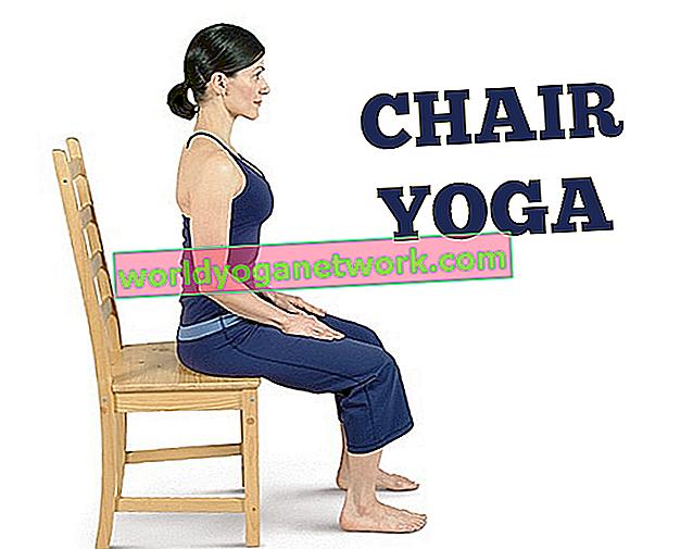 Yoga accessibile: saluto al sole sulla sedia