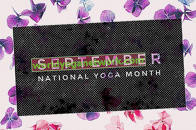 September ist Nationaler Yoga Monat