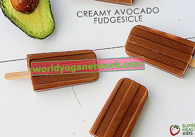 Krémové avokádo Fudgesicles